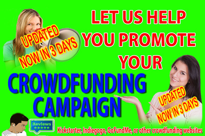 Promote your Crowdfunding, Fundraiser or Charity (UPDATED NOW IN 3 DAYS)