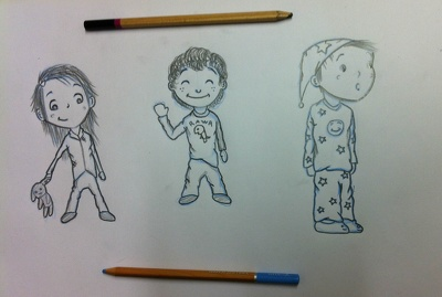 Illustrate a cartoon portrait of you or a family member