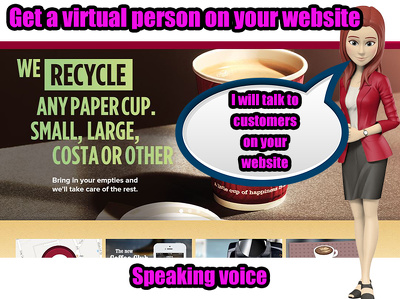Add a Talking Virtual sales person to your webpage