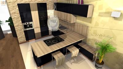 Create a unique 3D Kitchen Design (metric / imperial)
