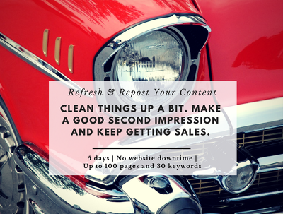 Refresh & Repost Your Website Content - Up to 20 Pages / Posts + 10 Keywords