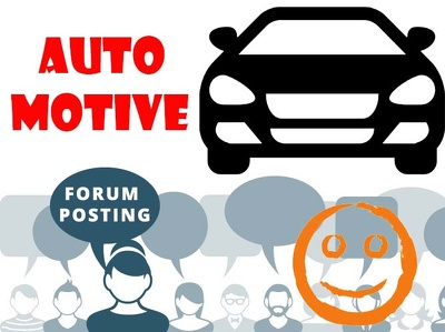 Do 5 Slow Forum posting on Automotive Niche