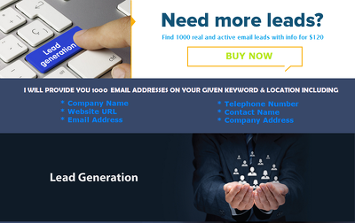 Find 500 real and active email leads with info