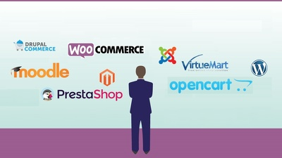 Setup any one CMS -  Wordpress/ Magento / Prestashop/ Joomla / Moodle