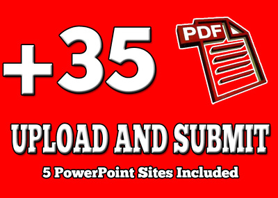 Do PDF submission to 35 document sharing sites
