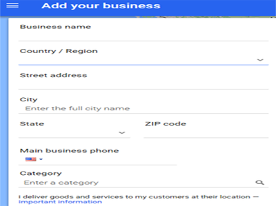 Promote your company name & location on google and bing places