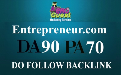 Publish a FEATURED guest post on Entrepreneur.com (DA90, PA70, TF72)