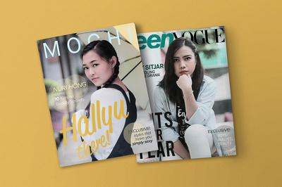 Layout 1 spread of magazine, flyer, brochure, catalog, etc.