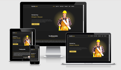 Create Responsive Construction Website Design (up to 5 pages)