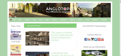 Write and Publish Guest post on Anglotopia.net.