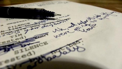 Edit or re-write 10 pages of your script or screenplay