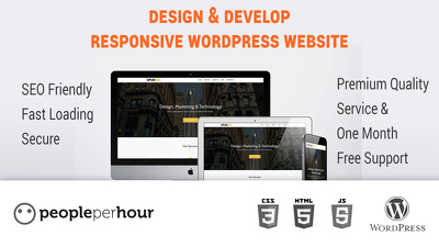 Design & Develop Responsive WordPress Website (SEO Friendly, Fast Loading & Secure)