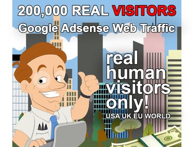 200,000 views for your website true web traffic USA UK EU WORLD 200K + 50,000 FREE