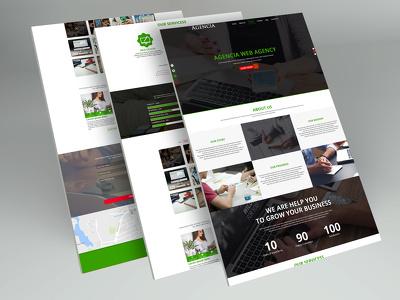 Design creative website psd template