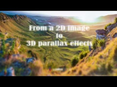 Transfer a 2D picture into 3D image with parallax effect (one single layer image)