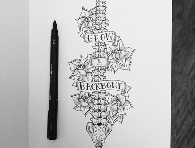 Draw a custom black & white tattoo design
