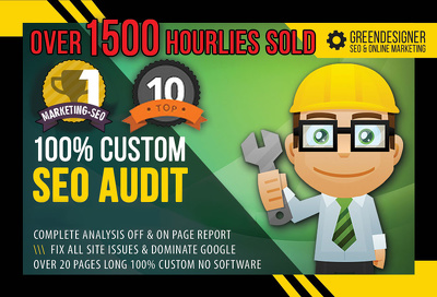 100% custom SEO website audit - fix all errors - increased rankings & traffic