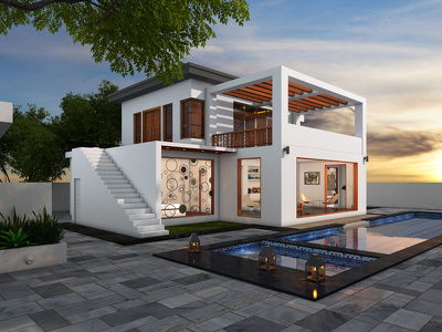 Create a realistic 3d rendering of exterior