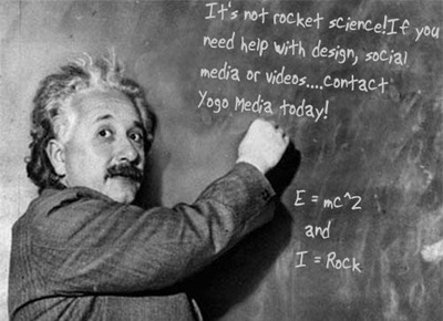 Place your message written on the board by Einstein x2