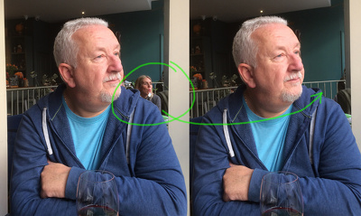 Remove an unwanted object or person(s) from your photograph