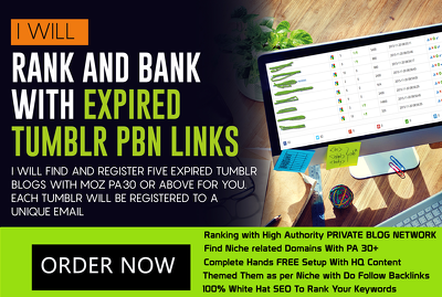 Find And Setup Niche PBN With Expire Tumblr PA 30 DA 99