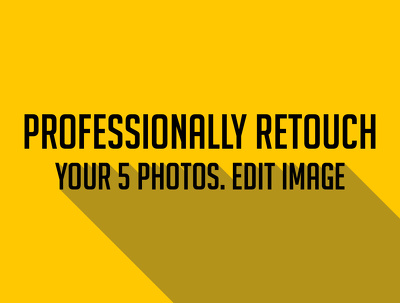 Professionally retouch your 5 photos. Edit image