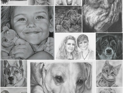 Hand drawing - realistic pencil portraits