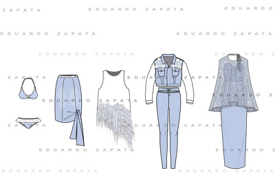 Design 8 fashion technical drawings!