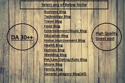 Add your Guest Post on High Quality Niche 14 Years CO.UK Blog with All category