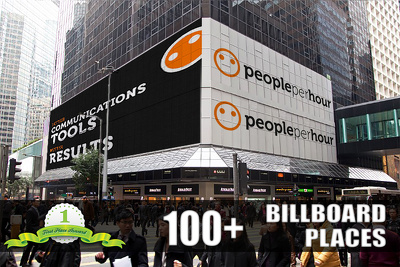 Draw TEN billboard advertisement of your logo,image or text
