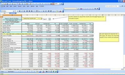 Make budgeting and forecasting  for all business