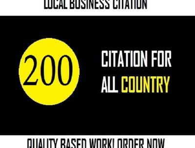 Do 200 usa local citation or Google map listing