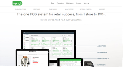 Implement the VEND POS (Point-Of-Sale) & inventory management system