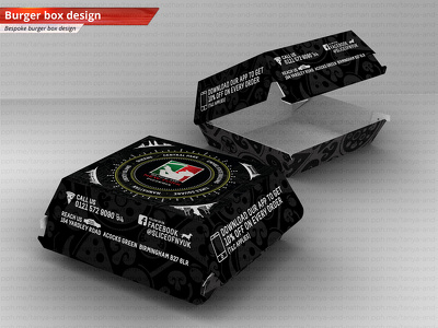 Design burger box for your fast food business.