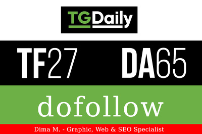 Publish a guest post on TG Daily - TGDaily.com - DA65, PA71