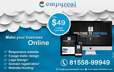 Provide 5-6 pages website in just 49$ with contact form
