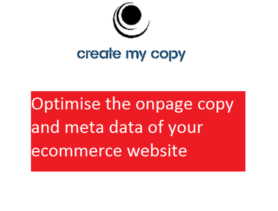 Optimise the onpage copy and meta data of your ecommerce website