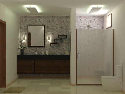 Design the best bathroom that you've ever seen and high quality 3d render