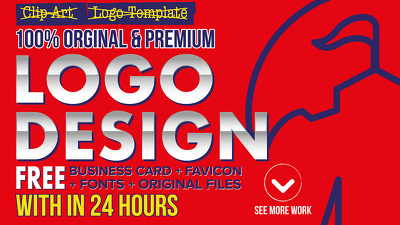 Design AWESOME and CREATIVE Logo in 24 hours with vector file + business card