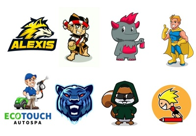 Draw any cartoon character or mascot logo
