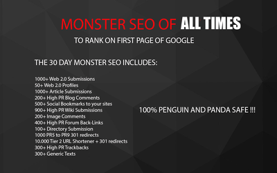 Do COMPELLING 30 Days Monster Seo Best Service 2017
