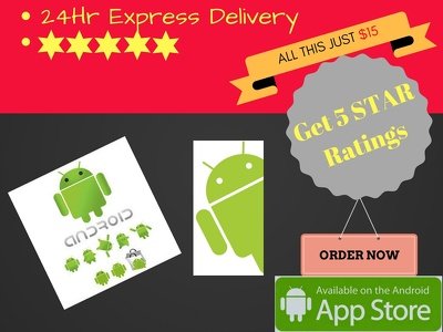Add Android App Review With 5 STAR Ratings