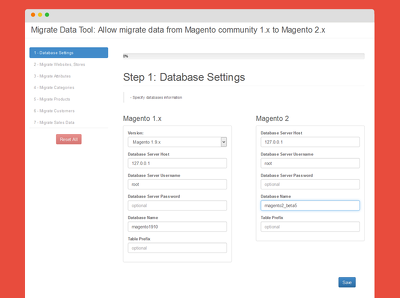 Migrate data from magento 1.x  to magento 2.x