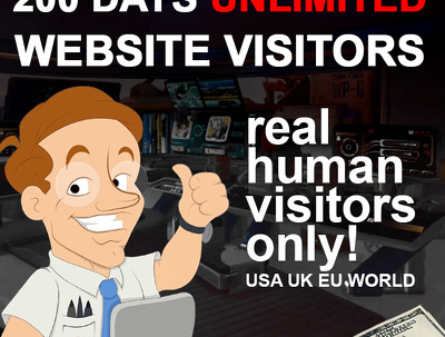 Supply Unlimited Website Traffic for 200 days USA UK EU WORLD 100% human + Live Stats