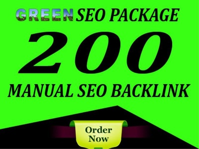 Create High Quality 200 Manual SEO Link-Building Package