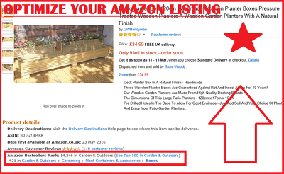 Optimize your Amazon product listing to improve rankings in search results