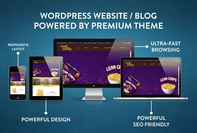 Develop and  design fully Responsive Wordpress website with FREE Premium Theme