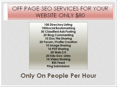 Do  Off page SEO services for your website