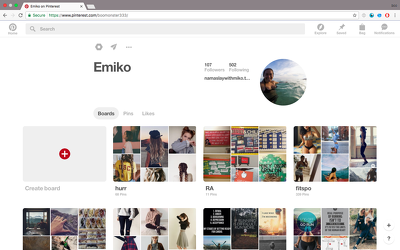Create and customize personalized Pinterest page