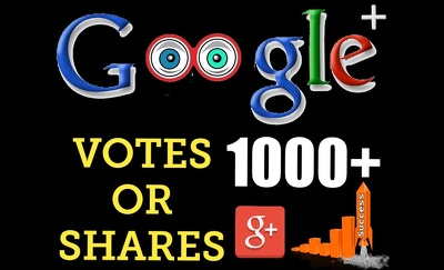 1000+ Real Google +1 votes or shares to increase your ranking SEO